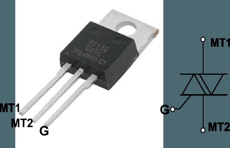 BT136 triac applications circuit