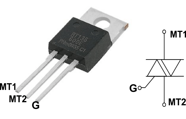BT136 triac applications circuit