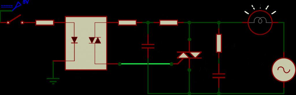 Triac BT136 as a Switch