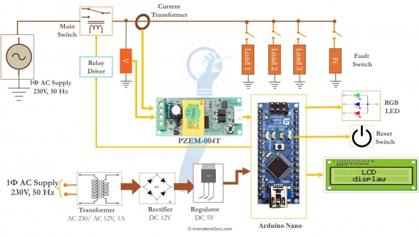 IG001 AC Digital Multi function Smart Meter using Arduino and PZEM-004T