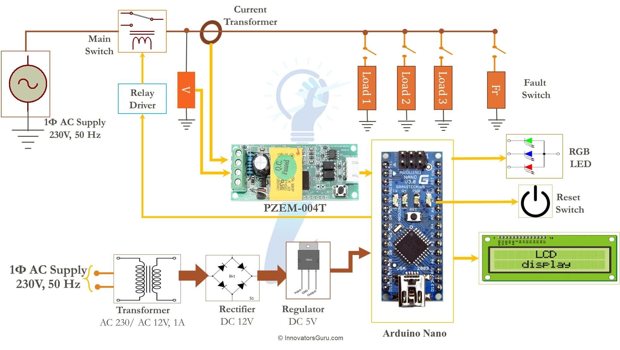 IG001 AC Digital Multi function Smart Meter using Arduino and PZEM-004T
