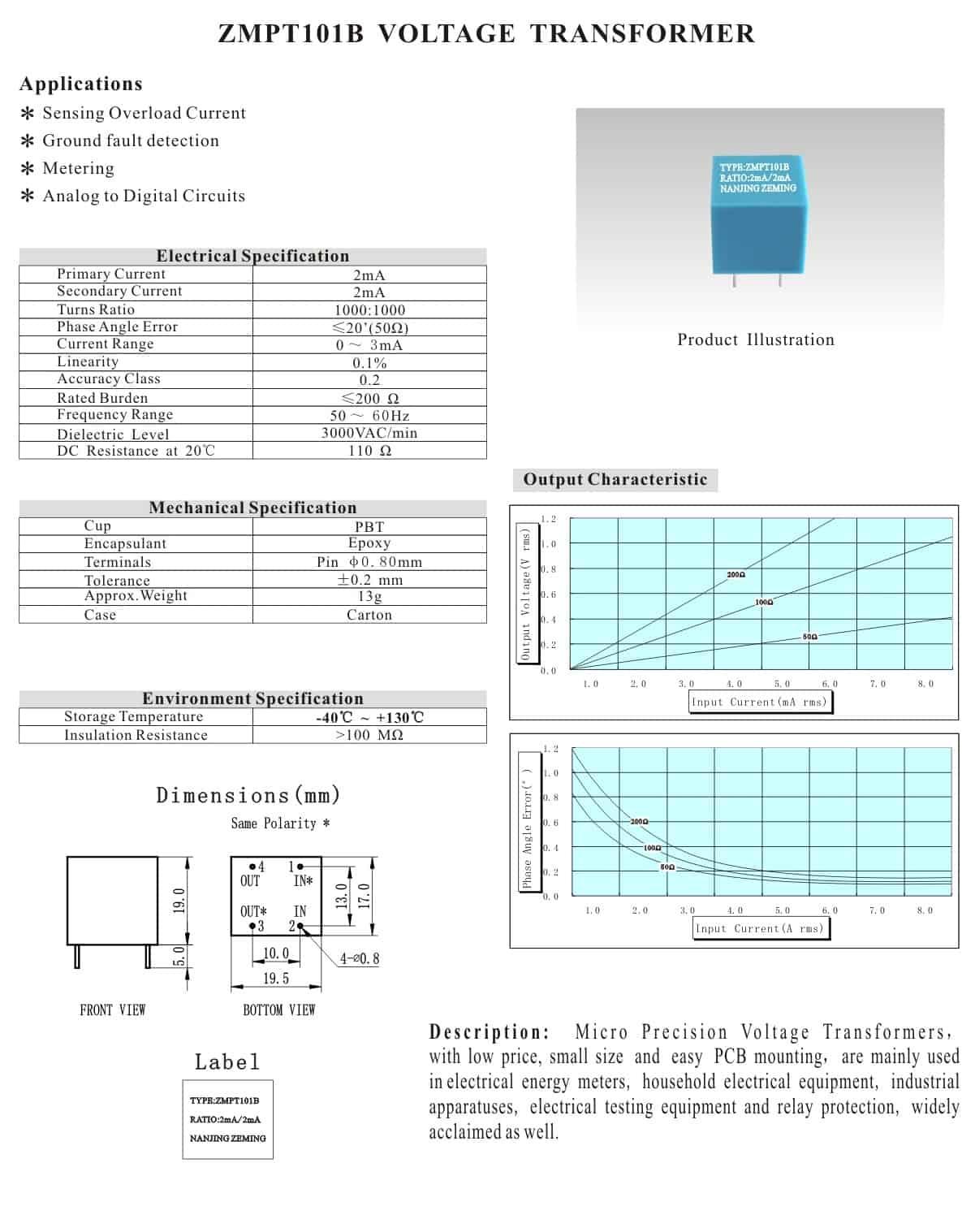 ZMPT101B-Datasheet