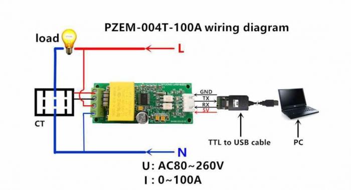 PZEM-004T-100A-wiring-Diagram