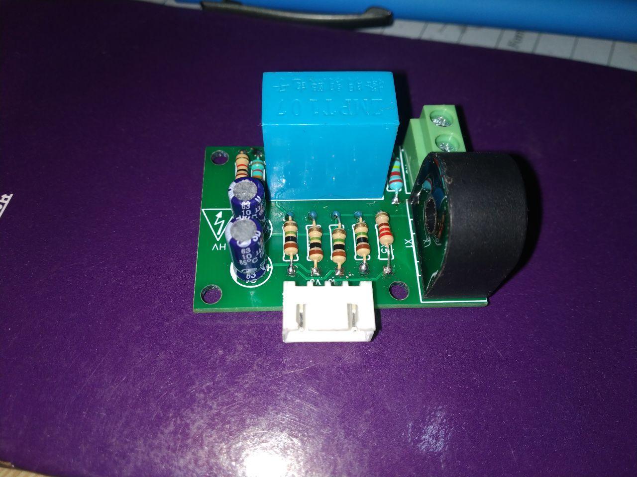 AC voltage measurement using Arduino