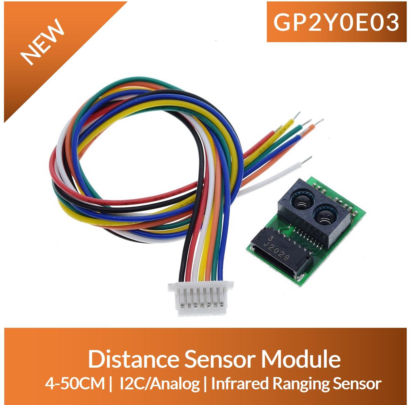 GP2Y0E03 arduino