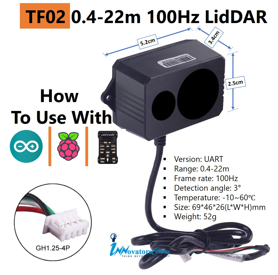 TF02 Lidar for Arduino and Pixhawk | How to Use